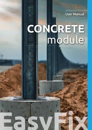Concrete module  – User Manual